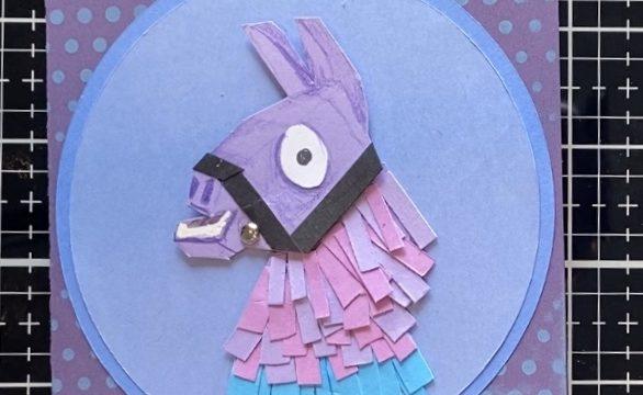Llama Piñata Card